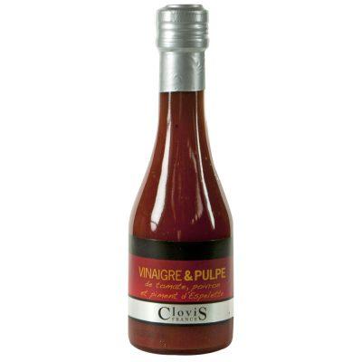 Vinaigre pulpe de tomate, poivron, piment d'espelette