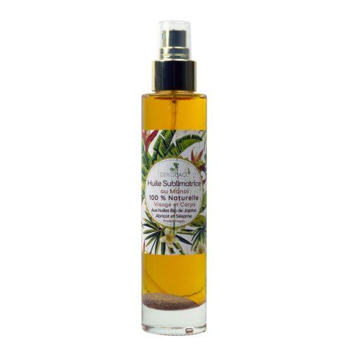 huile sublimatrice au monoï 100% naturelle