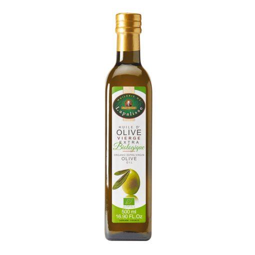 huile vierge d'olive biologique bouteille verre 500 ml