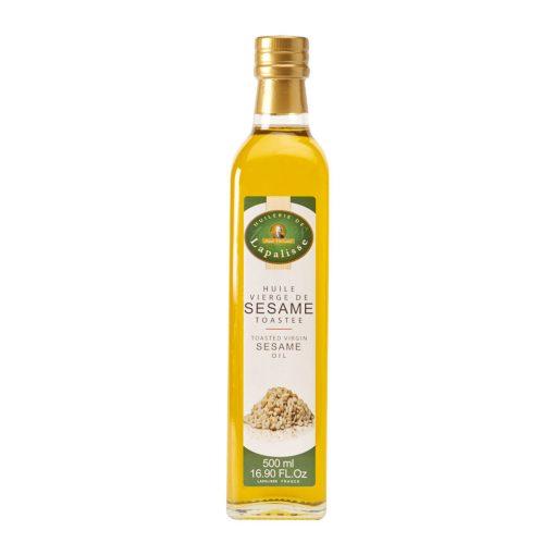 huile vierge de sésame toastée verre 500 ml
