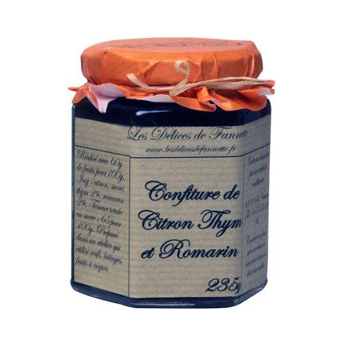 confiture citron thym romarin