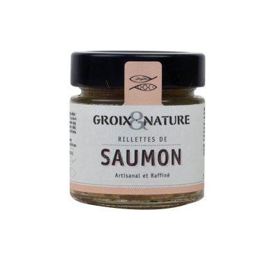 rilletes de saumon de Groix et nature