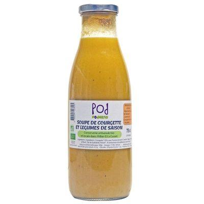 soupe bio de courgette et légumes de saison Podarno